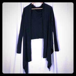 Light BCBG Navy Wrap Sweater